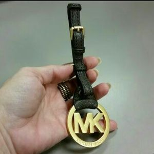 Michael Kors Charm Logo w with Brown Leather